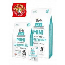 BRIT CARE dog MINI GF LIGHT/sterilised - 400g