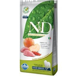 N&D dog GF ADULT MAXI BOAR / APPLE - 12kg