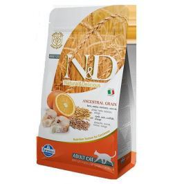 N&D LG cat ADULT CODFISH / ORANGE - 300g Krmivo a vitamíny pro kočky