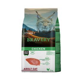 BRAVERY cat ADULT chicken - 2 kg