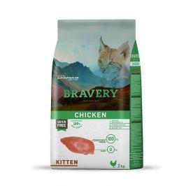 BRAVERY cat KITTEN - 2 kg Granule pro kočky