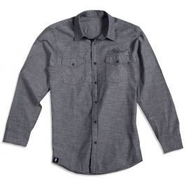 Taylor Men's LS Chambray Shirt Gray L