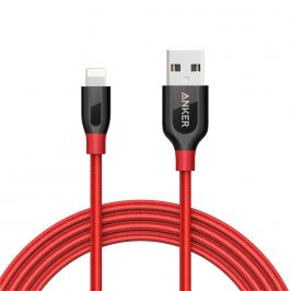 Anker Powerline+ Lightning Red