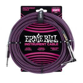 Ernie Ball 25' Braided Cable Black/Purple