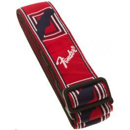 Fender Monogramm Strap Red-White-Blue