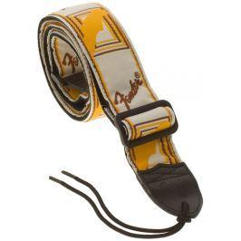 Fender Monogramm Strap White-Yellow-Brown Ostatní hudebniny