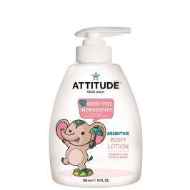 Dětské tělové mléko ATTITUDE bez vůně - s pumpičkou 300 ml