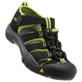 Keen 1009965 Dětské sandály NEWPORT H2 JR, black/lime green černá 34