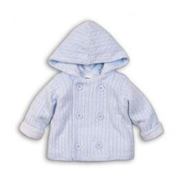 Minoti DOG 7 Kabátek kojenecký úpletový s chlupatou podšívkou modrá 74/80