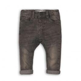 Minoti KID 11 Kalhoty chlapecké džínové s elastenem šedá 80/86