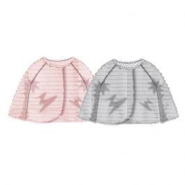 Minoti BOW 2 Kabátek kojenecký chlupatý s bavlněnou podšívkou růžová 68/80