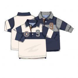 Minoti GREAT 6 Tričko chlapecké POLO s dlouhým rukávem modrá 122/128