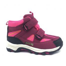 Bugga B00126-03 boty zimní 2 pásky, nepromokavá membrána růžová 32