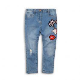 Minoti REBEL 10 Kalhoty dívčí džínové s výšivkami modrá 134/140